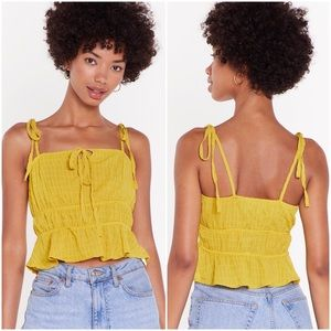 NWT Nasty Gal 5 Years Time Textured Strappy Top
